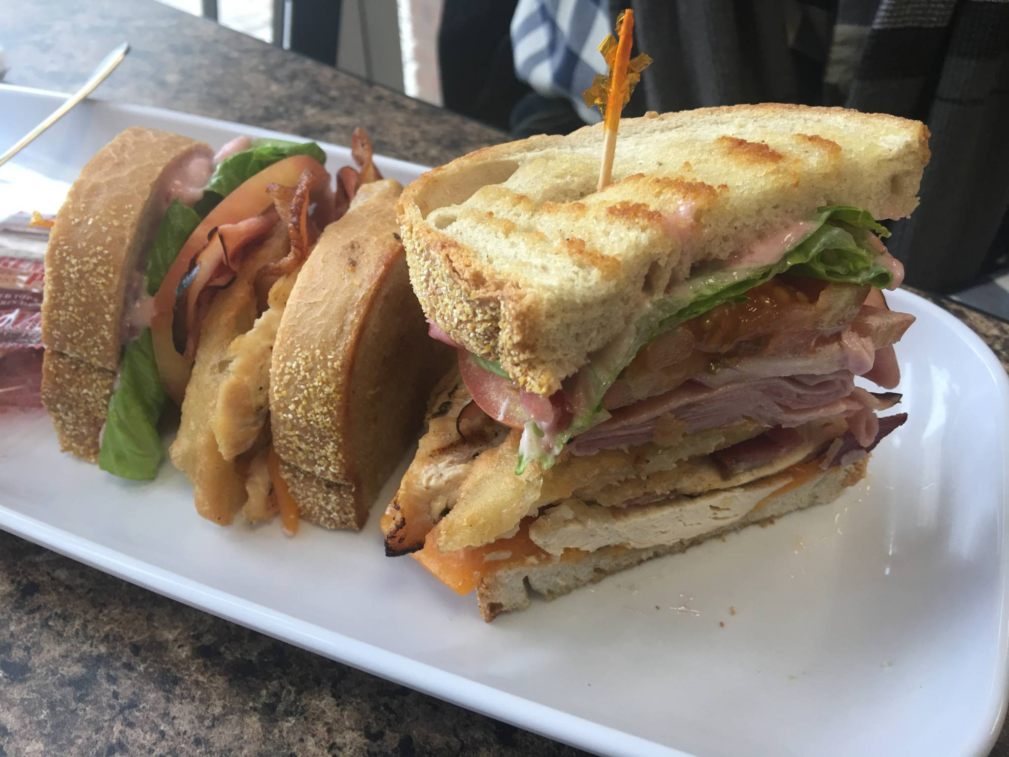 Toasted Do Good Deli Sandwich on a plate.